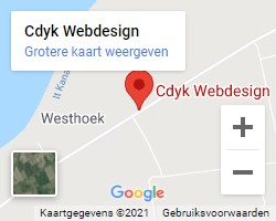 Route naar Cdyk Webdesign, klik voor route